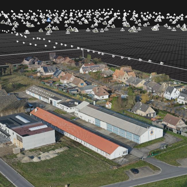 fotogrammetrisch 3D model met drone